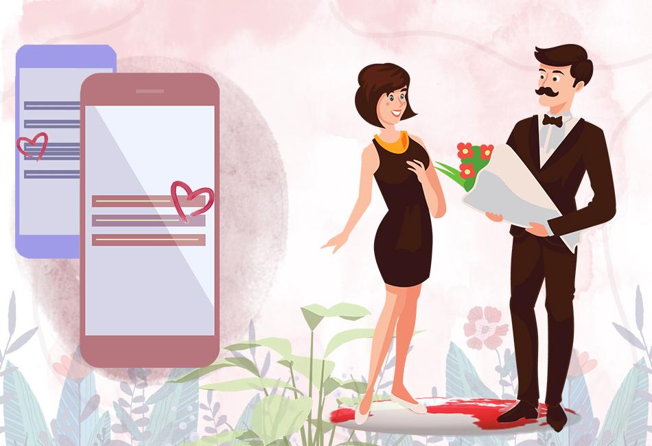 Як почати знайомство з дівчиною за допомогою онлайн спілкування ілюстрація